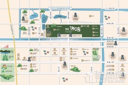 绿地海湾配套图