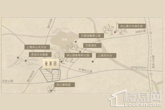 中凯曼荼园交通图