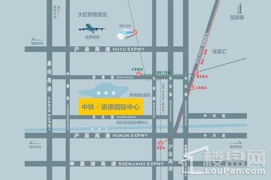 中铁诺德国际中心交通图