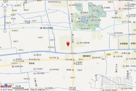 上海名流国际商业街交通图