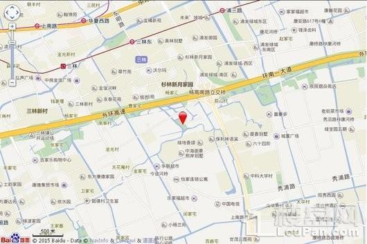 上海浦东软件园三林园交通图