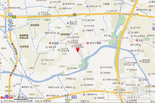 上海西郊商务区-C2国际区交通图