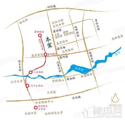 荣盛锦绣御景交通图