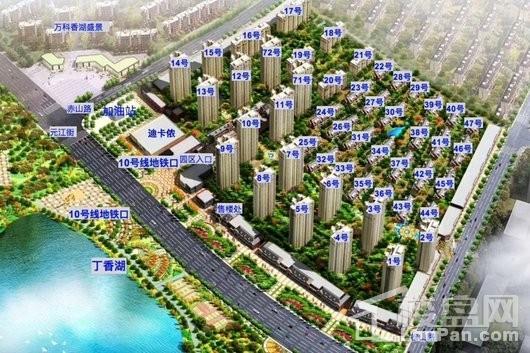 中铁香湖效果图