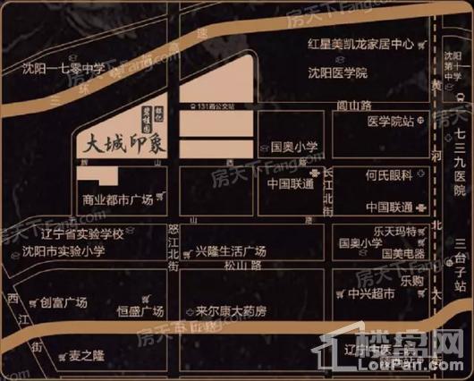 碧桂园银亿大城印象交通图