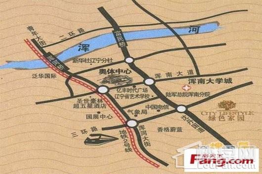 绿色家园交通图