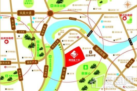 洲河新兰岸交通图