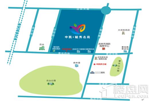 中凯·毓秀名苑交通图