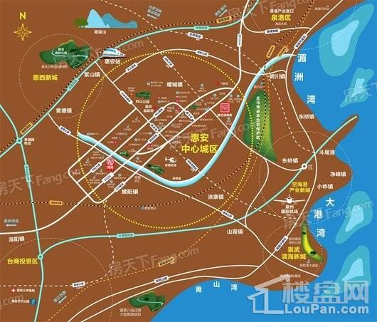 盛世溪南里交通图