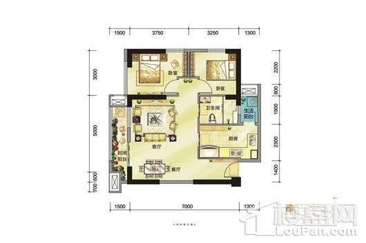 朗基城(公寓)户型图