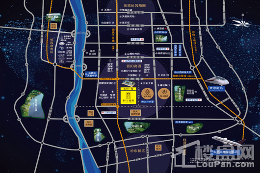恒大悦府交通图