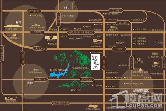 中迪·绥定府交通图