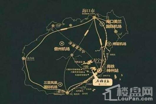 石梅半岛位置图