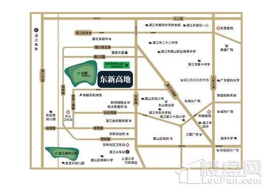 东新高地交通图