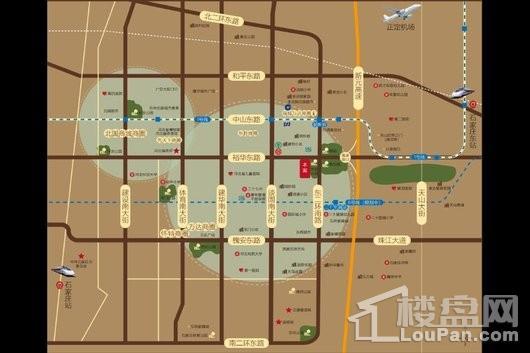 世茂·璀璨裕华交通图