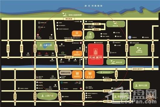 藁城东城国际交通图