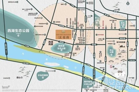 西湖正荣府交通图