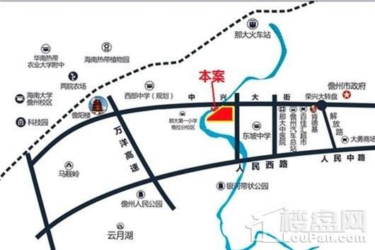 富力阅山湖交通图