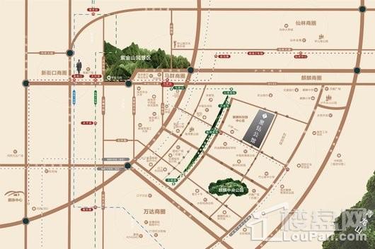 蓝光睿创新筑交通图