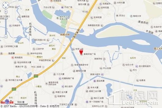 泉商环球广场交通图