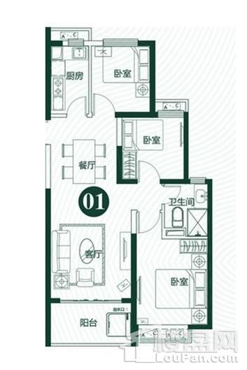 泉州恒大翡翠龙庭户型图