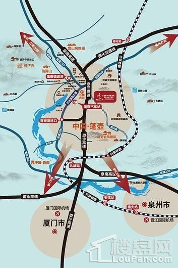 泉州天沐温泉国际旅游度假区交通图