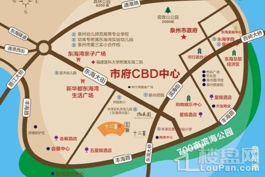 东海湾十二宴二期交通图