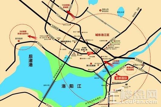 蓝郡国际交通图