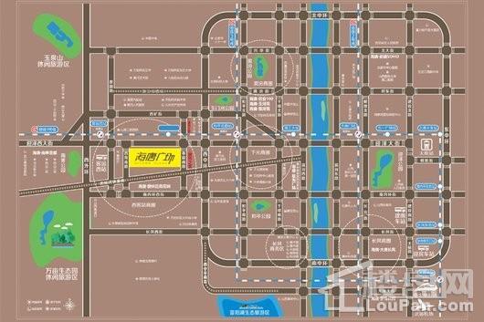 海唐广场交通图