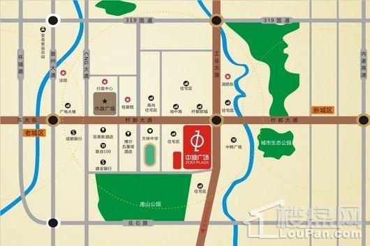 安岳中迪商业广场交通图