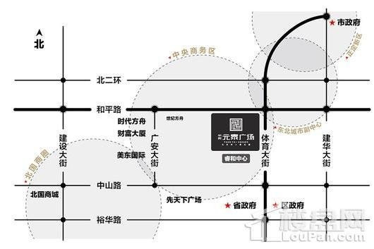 中房元泰广场交通图