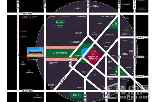 晶彩中心交通图