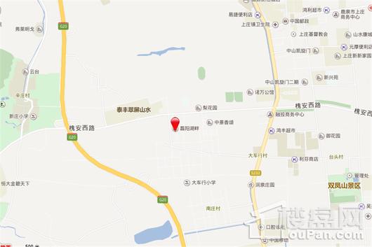 磊阳湖畔交通图