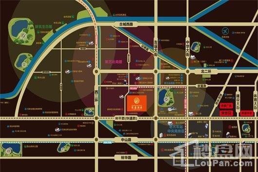 荣盛和府交通图