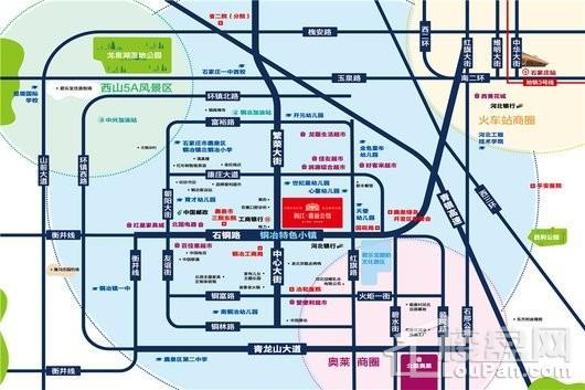 润江鹿泉翡丽公馆交通图