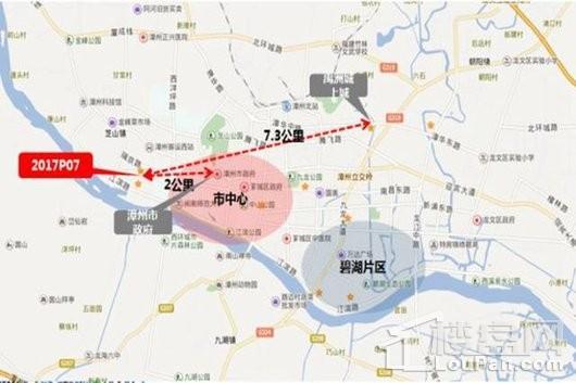 禹洲城上城交通图