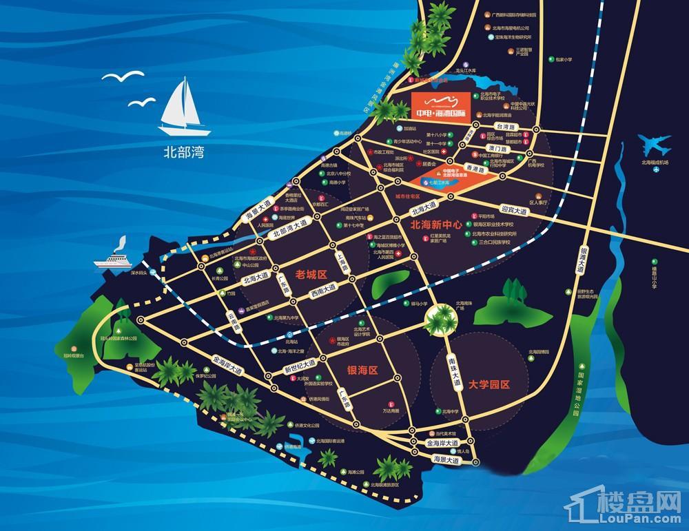 中电海湾国际位置图