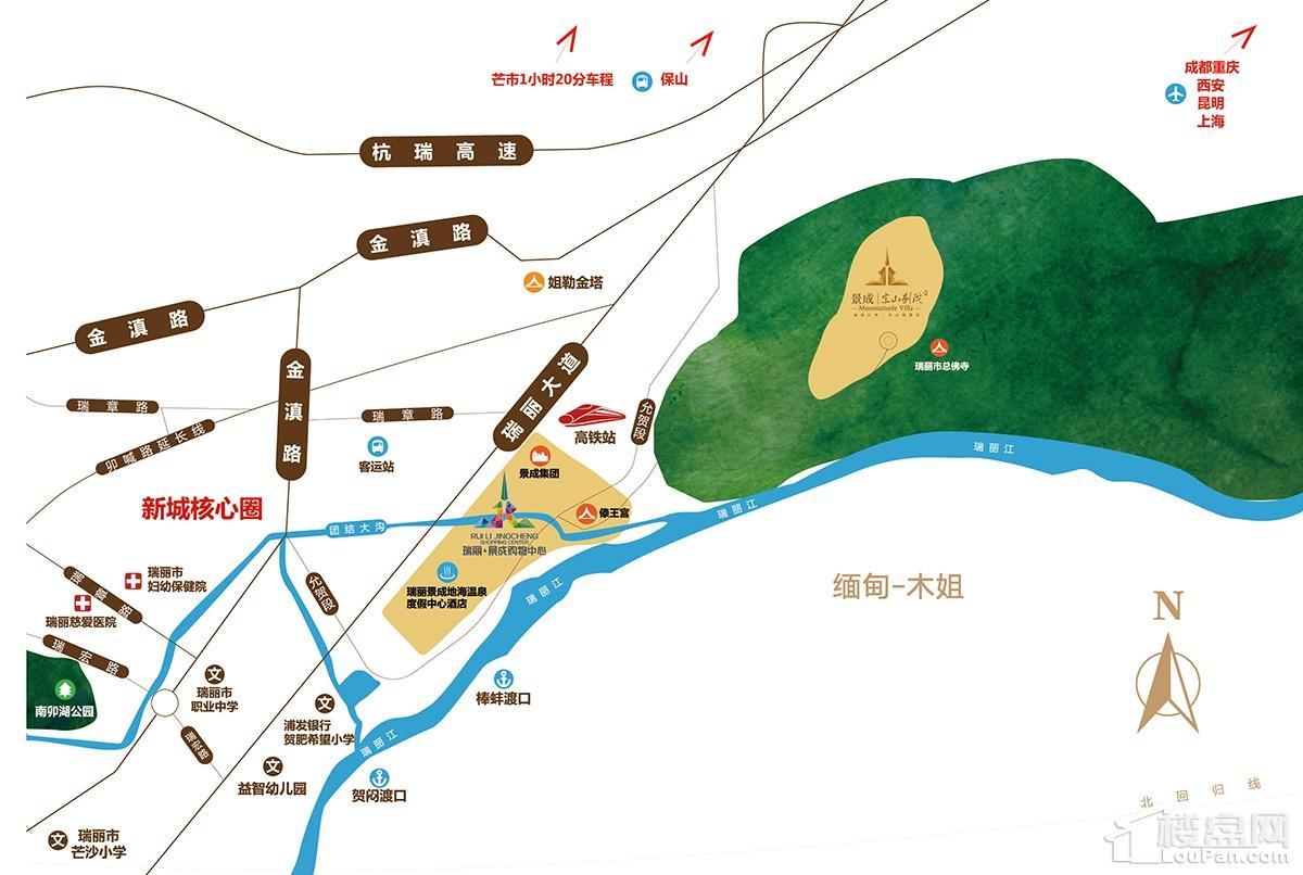 景成新城位置图