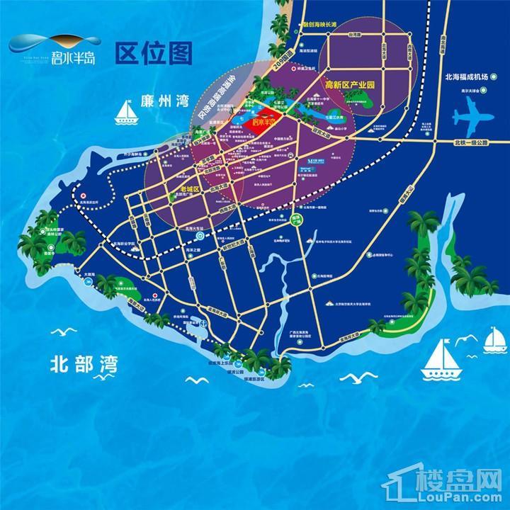 碧水半岛位置图