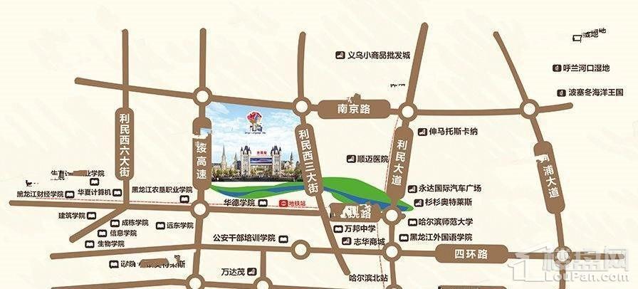 外语城位置图