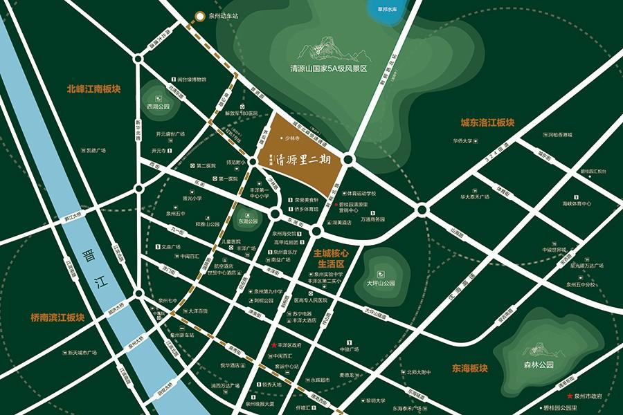 碧桂园清源里二期位置图