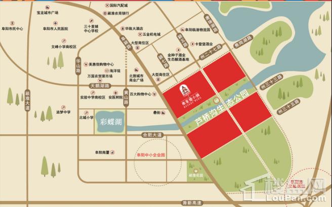 弗莱德小镇(越江台)位置图