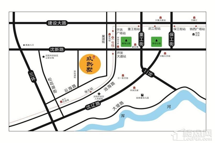 中南玖熙墅位置图