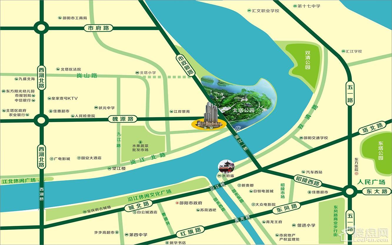 滨江首府位置图