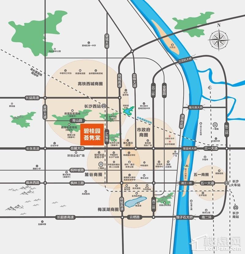 碧桂园荟隽棠位置图