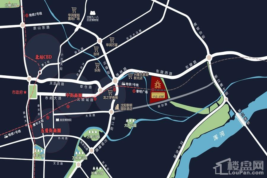 中金启城位置图