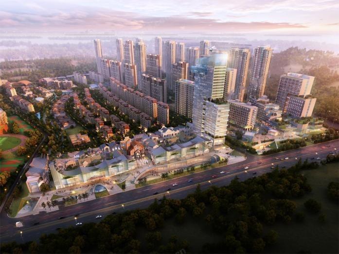 新加坡国际健康城效果图