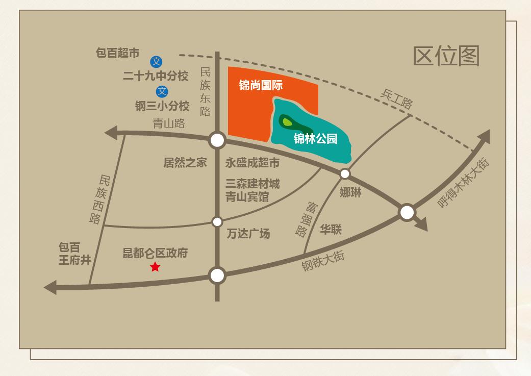 锦尚国际位置图