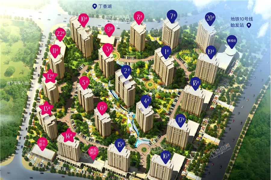 广厦绿园效果图