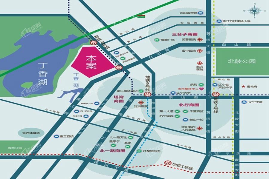 广厦绿园位置图